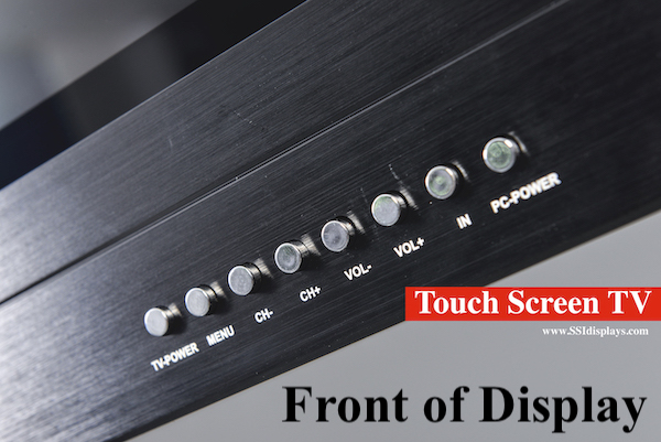 Touch Screen TV Control Buttons