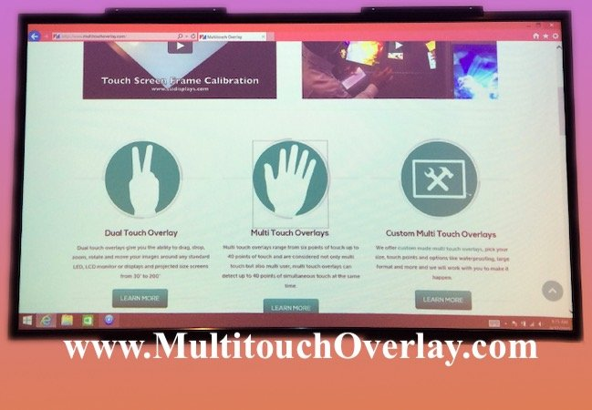 multitouch frame made to order